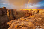 Arizona,canyon,rainbows,sunset,clouds,warm,scenic,desert sunset photo,desert sunset photos,desert rainbows,navajo,hopi,southwest