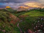 Colorado, Sunset, Colorado Mountain Photos, La Plata Mountains, Orange, mountain photographer, landscapes, mountains, images, evening