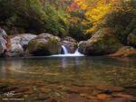 Tennessee, Fall, Autumn, Fall Foliage, Fall Colors, Great Smoky Mountains National Park, Smoky Mountains Photos, Smokies, Smoky Mountains Fall photos, River, Stream, midnight hole photos, water, smoke