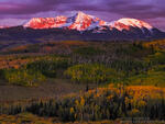 Colorado, Colorado Mountain Photos,fall,autumn,gold,orange,purple,san miguels, mountains,uncompahgre national forest,sunset