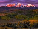 Colorado, Colorado Mountain Photos,fall,autumn,gold,orange,purple,san miguels, mountains,uncompahgre national forest,sunset