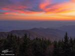 Tennessee, North Carolina, Great Smoky Mountain National Park, Clingman's Dome, Smoky Mountain Photos, Smokies, Sunset, colorful, smoky mountain sunset photos, sunset
