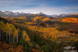 Colorado image,Mount Sneffels photos,Mount Sneffels Wilderness,Fall,Sunrise,Autumn,foliage,aspens,trees,mt sneffels pictures,Colorado Mountains