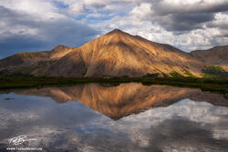 Colorado image, Sunset, Photograph, Tarn, Alpine, Mountain pictures, Reflection, Huron Peak photos,Sawatch Range