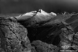 Longs Peak Photos, Long's Peak pictures,Colorado mountain, sunset image, Rocky Mountain National Park pictures,black and white