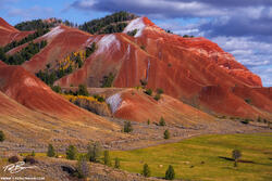 Wyoming, Red Hills, Red Hills photos, horses, fall, autumn, Red Hills fall colors, gros ventre, horse, afternoon, snow