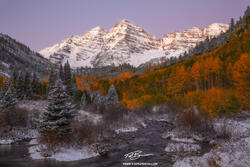 Colorado, Maroon Lake, Aspen, Maroon Bells, Snow, Snowy, Fall, Autumn, orange, Maroon Bells photos, Colorado Mountain Photos, pictures,photographs,autumnal,fall colors,fall foliage