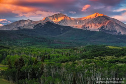 Colorado, sunrise,orange,clouds,mountain photo,photography, images,pictures, summer Mount Sopris photos,mt. sopris