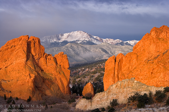 Pikes Peak pictures,Snowy, Stormy, Winter image,Sunrise picture, Garden of the Gods photos,Colorado , photo