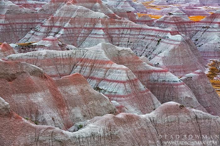 South Dakota, Badlands, Badlands National Park, Grasslands, Prairie, buttes, patterns, summer, shaded, Wall, photo