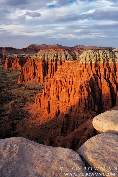 Utah,Cathedral Valley pictures,cathedral vally photos,Sunset,orange,desert,southwest,Capitol Reef National Park images, photo