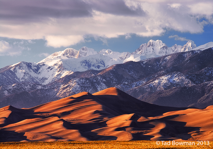 Colorado pictures,Winter,Snow,Sand Dunes images,Sunset, Alamosa,Great Sand Dune National Park photos,Sand Dune,Sand Dunes, photo