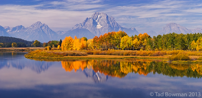 Oxbow Bend photos,mountain images,Fall colors,grand teton pictures,Autum picture,Gold Aspen tree, photo