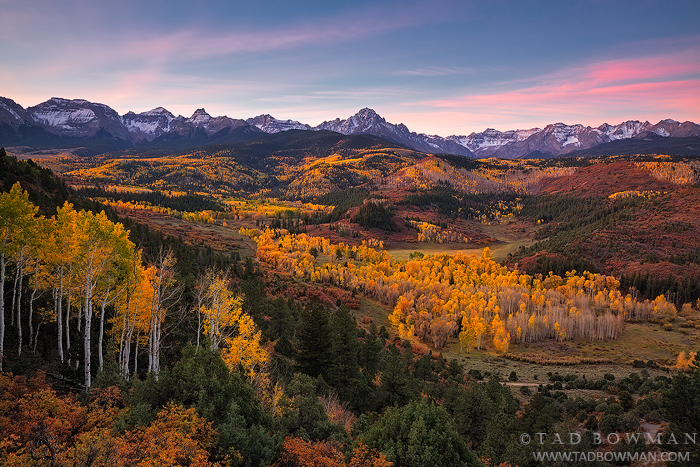 Colorado image,Mount Sneffels photos,Mount Sneffels Wilderness,Fall,Sunrise,Autumn,foliage,aspens,trees,mt sneffels pictures,Colorado Mountains, photo