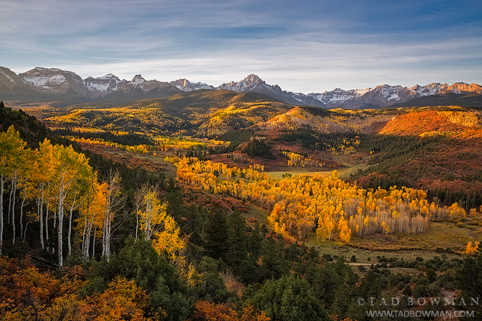Colorado image,Mount Sneffels photos,Mount Sneffels Wilderness,Fall,Sunrise,Autumn,foliage,aspens,trees,mt sneffels pictures,Colorado Mountains, photo