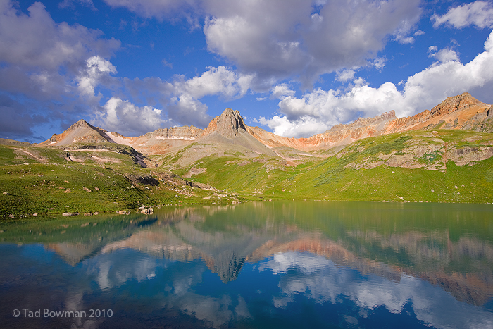Sunrise, Vermillian Peak photos, Pilot Knob photos, Reflection,Silverton,Colorado mountain images,Ice Lakes Basin photos, photo