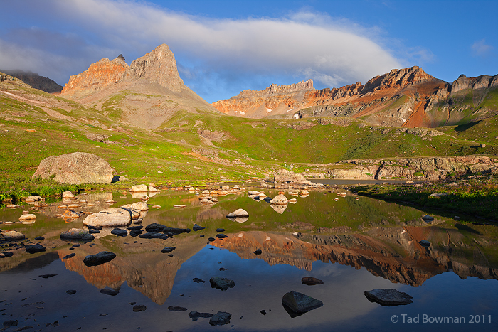 Ice Lakes Basin Photos, Pilot Knob photo, Golden Horn image, mountain photograph, mountains pictures,colorado,ice lakes, photo