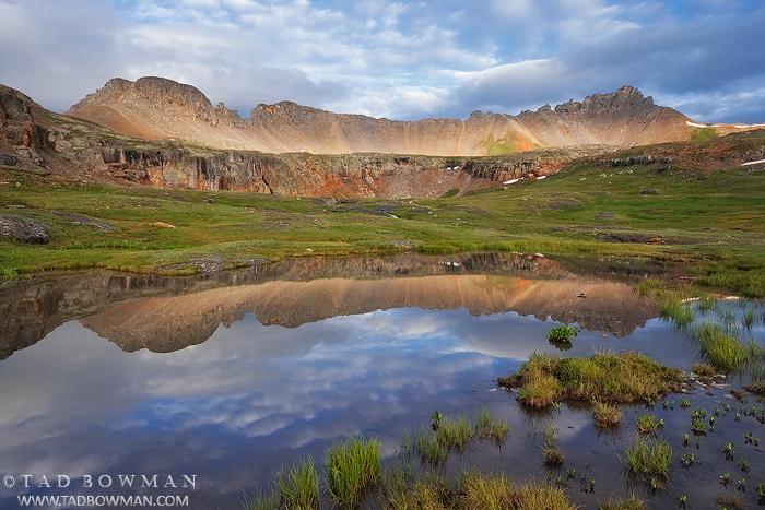 San Juan Mountain Range, Picture, Reflection, Peaceful, Colorado image, Mountain Photo, Porphyry Basin photos, photo
