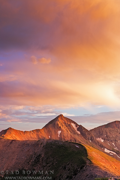 Colorado image, Sunset, Warm, Mountain, Image, Photos, Diorite Peak pictures,La Plata Mountains photos, photo
