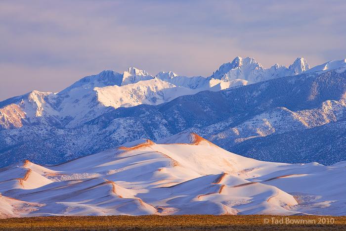 Crestone Peak,Crestone Needle,Kit Carson Peak,Winter images, Colorado pictures,Great Sand Dunes National Park photos, photo