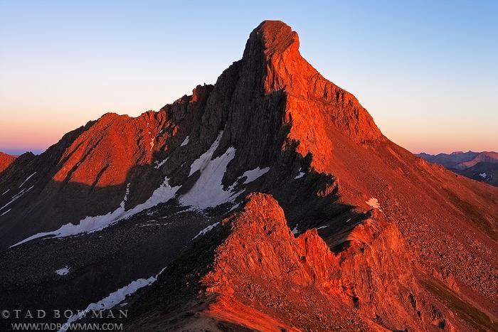 Colorado image,Sunset,Warm,Mountain pictures,Uncompahgre National Forest,Wetterhorn Peak photos,Wetterhorn Peak Pictures, photo