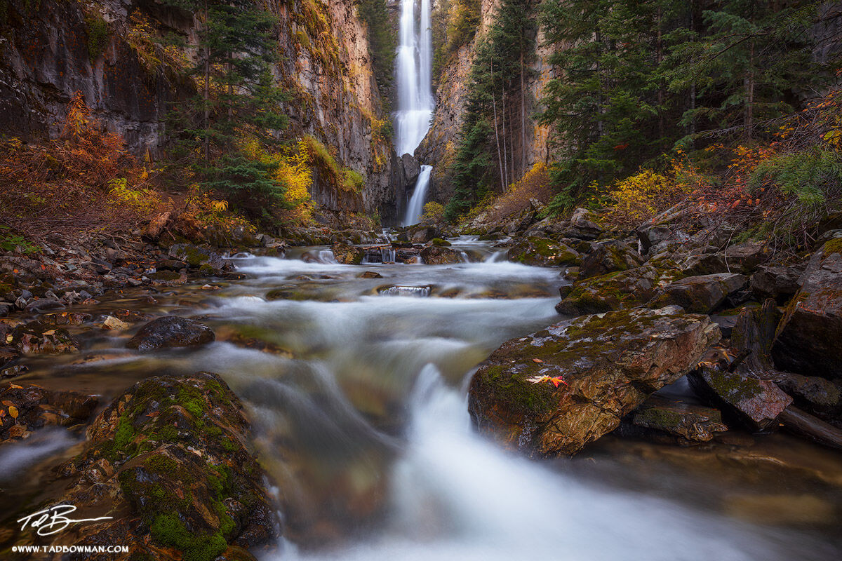 Colorado, Mystic Falls, Waterfall,Waterfalls,autumn,fall,fall foliage, colorado fall photos,Uncompahgre National Forest, photo