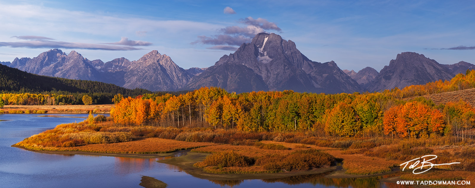 Wyoming, Oxbow Bend photos,mountain images,Fall colors,grand teton photos,Autum picture,Gold Aspen tree,Grand Tetons Photos,Grand Teton National Park photographs,fall photos,reflection,reflections, photo
