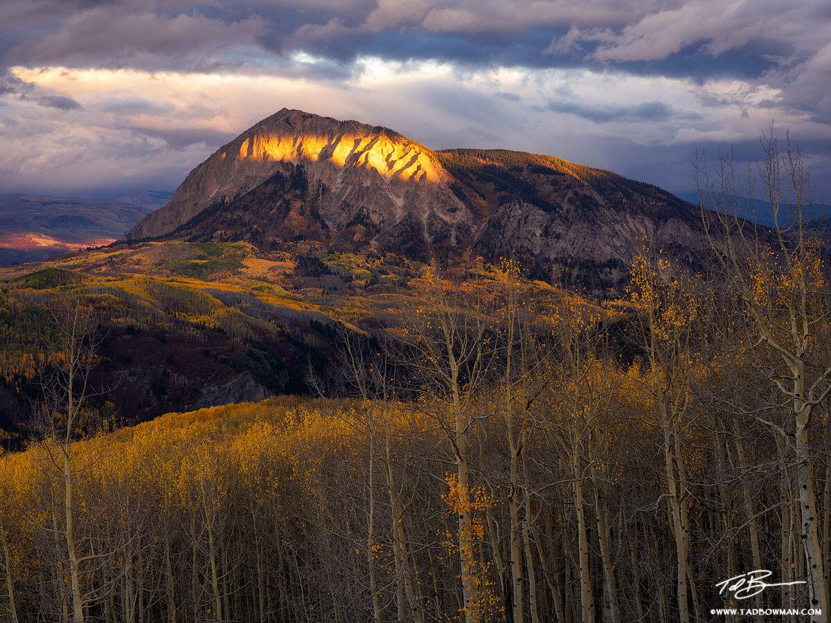 Colorado, Colorado mountain photos, Colorado fall photos, Marcellina, Marcellina Mountain Photos, Gunnison National Forest, Sunrise, moody, dramatic,fall,autumn, fall foliage, colorful, photo