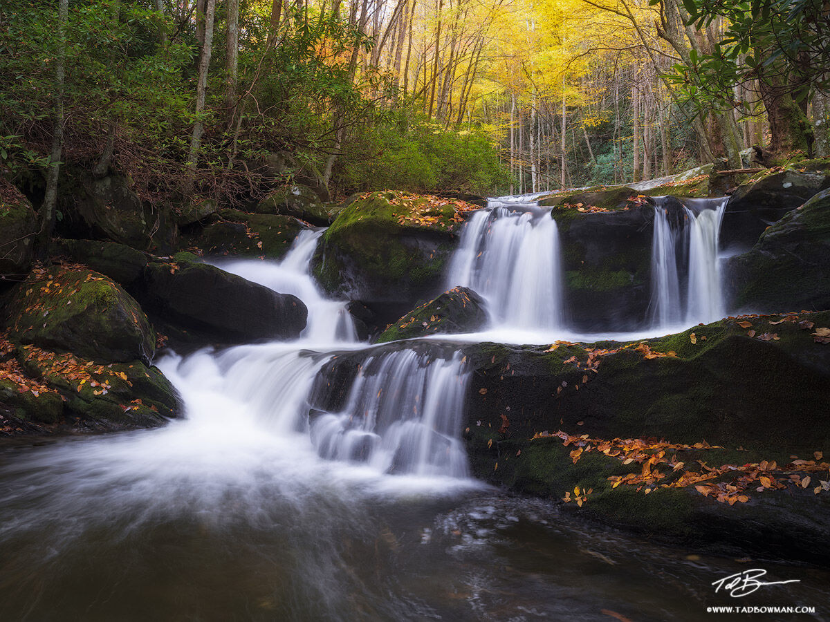 Tennessee, Fall, Autumn, Fall Foliage, Fall Colors, Great Smoky Mountains National Park, Smoky Mountains Photos, Smokies, Smoky Mountains Fall photos, Middle prong river, waterfall, waterfalls, photo