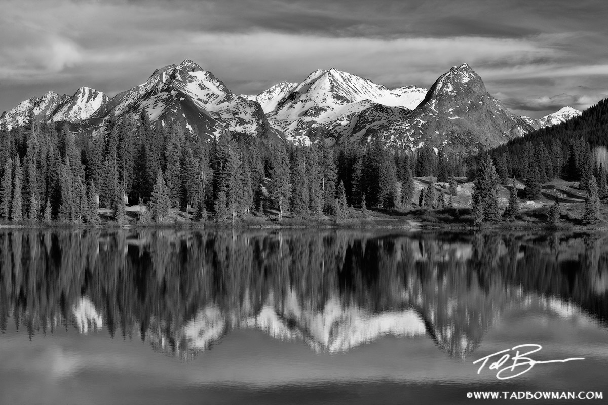 Molas Lake photos,Colorado image,Grenadier Range images, mountain picture,mountains pictures,black&white,reflections,Molas Lake pictures, photo