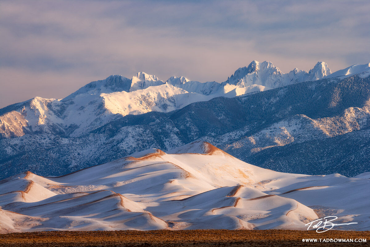 Crestone Peak,Crestone Needle,Kit Carson Peak,Winter images, Colorado pictures,Great Sand Dunes National Park photos, photo