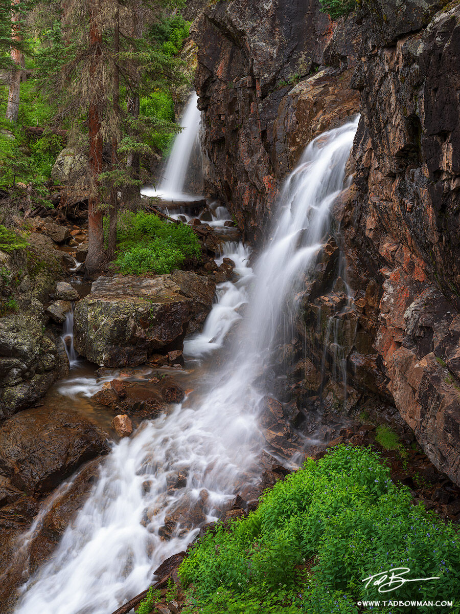 Colorado, Waterfall, Waterfalls, Water Fall, Water Falls, streams, river, creek, Weminuche Wilderness, fores, image, photos, pictures,waterfall, photo